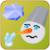 Angry snow man icon
