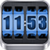 3D Rolling Clock Widgets BLUE app for free
