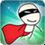 Hero stickman icon