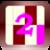 Maroon Ivory Rectangle Joust icon