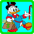 Donald Duck on a journey around the world icon