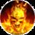 Fire Skull LWP icon
