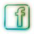 Facebook via Blackberry icon