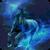 Blue Neon Horse Live Wallpaper icon