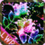 Flowers Coloured Crazy Glitter icon