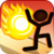 Stickman VS Fireball app for free