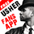 Usher wallpapers android app icon
