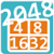 2048 math puzzle game icon