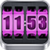 3D Rolling Clock widgets PINK icon