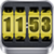 3D Rolling Clock Widgets YELLOW app for free
