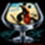 Wine glass frame icon