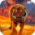 Amazing Tiger On Fire Live Wallpaper icon
