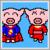 Super Hero Pig icon