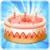 Birthday cake idea icon