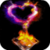 Heart From Fire Live Wallpaper icon