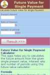 Future Value for Single Payment Calculator screenshot 2/3