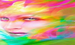 Colorful Face Live Wallpaper screenshot 2/3