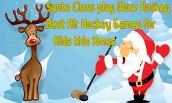 Santa Claus play Glow Hockey - Best Game for Xmas screenshot 1/6