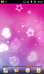 Pink Hearts Live Wallpaper Free screenshot 2/6