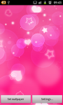 Pink Hearts Live Wallpaper Free screenshot 3/6