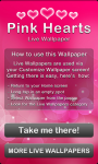 Pink Hearts Live Wallpaper Free screenshot 5/6