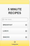 Five Minute Recipes screenshot 1/4