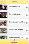 Five Minute Recipes screenshot 2/4