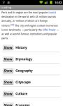 Wiki Encyclopedia Lite screenshot 5/6