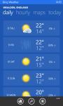 WeatherBing screenshot 1/3