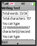 Writing Speed Test screenshot 1/1