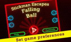 Stickman Escapes Falling Balls screenshot 1/4