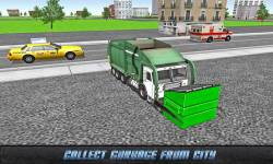 Flying Garbage Truck Driving screenshot 1/4