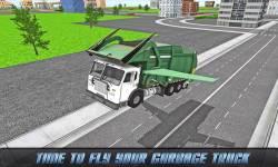 Flying Garbage Truck Driving screenshot 2/4