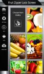 Fruit Zipper Lock Screen screenshot 4/6