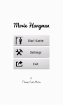 Movie Hangman Free screenshot 1/5