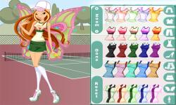 Winx Tennis with Flora Dress Up screenshot 3/3