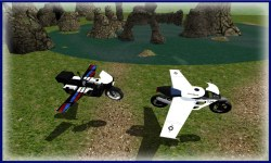 Flying Police Bike Simulator screenshot 2/3