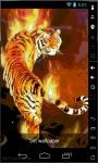 Tiger On Flames Live Wallpaper screenshot 2/2
