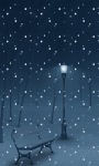 Night Snow LWP screenshot 2/3