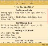 Lịch vạn niên 2012 screenshot 4/6