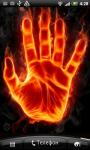 Fire Hand Live Wallpaper screenshot 1/2