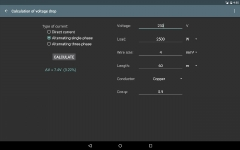 Electrical calculations PROKey personal screenshot 5/6
