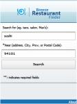 Breeze Restaurant Finder screenshot 1/1