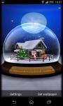 3D SnowGlobe Live Wallpaper screenshot 2/5