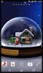 3D SnowGlobe Live Wallpaper screenshot 4/5