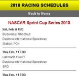 Pocket Schedules: Racing screenshot 1/1