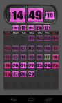 3D Flip Clock Widgets PINK screenshot 1/1