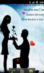 Romantic Love Quotes Live Wallpaper screenshot 1/5