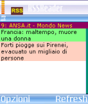 RssReader Italian Version screenshot 1/1