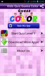 Color Guess Quiz Kids  screenshot 1/5